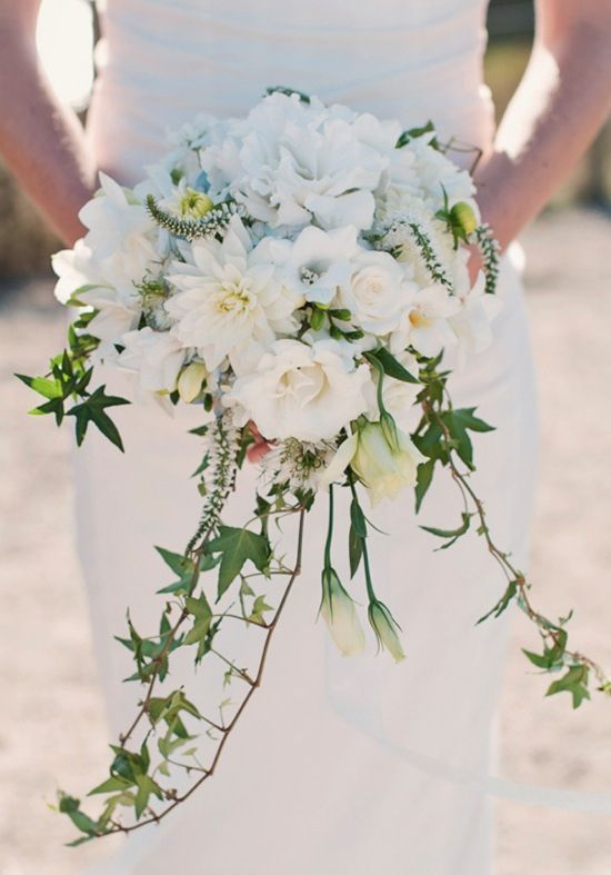 Ivy incorporated into the bridal bouquet -- In Greece it is a symbol of everlasting love and protection.