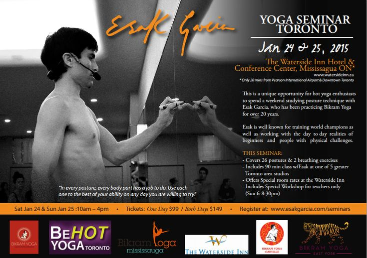 The Canadian Academy of Dental Health & Community Sciences is proud to be sponsoring a special 2-day yoga clinic run by Esak Garcia, a World Champion Yogi.