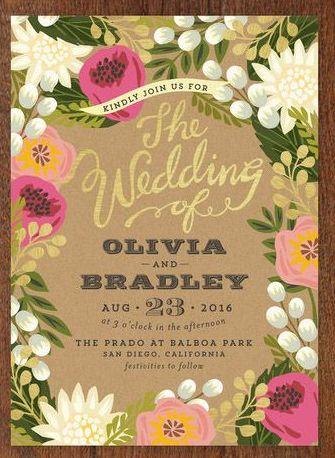 449 best Wedding Invitations images on Pinterest Wedding