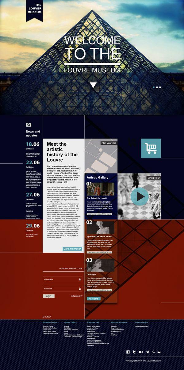 Proposal to renew the Louvre Museum Website by Yanir Barazani, via Behance