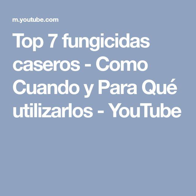Top 7 fungicidas caseros - Como Cuando y Para Qué utilizarlos - YouTube