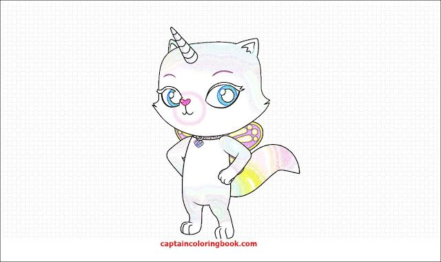 Rainbow Butterfly Unicorn Kitty Kitty Coloring Rainbow Butterfly Unicorn Cat