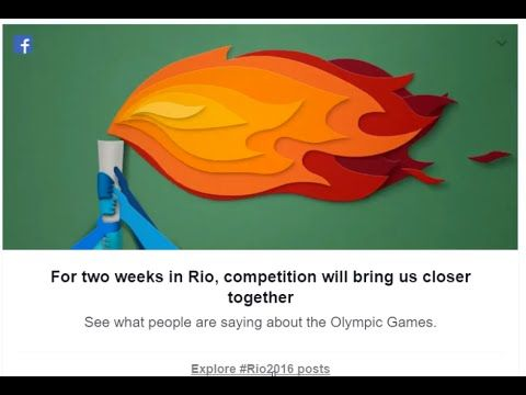 Facebook Update For Rio Olympics 2016