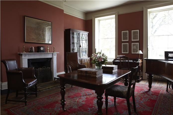An inspirational image from Farrow and Ball,  Book Room Red
