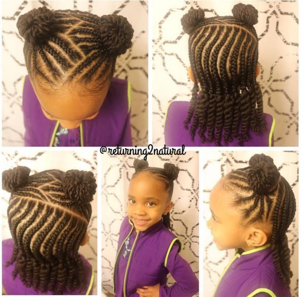 Stupendous 1000 Images About Lil Naturalista Styles On Pinterest Short Hairstyles For Black Women Fulllsitofus