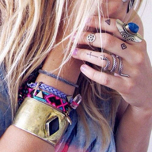 i already wear a lot of rings but adding tattoos on my fingers would be sweet
