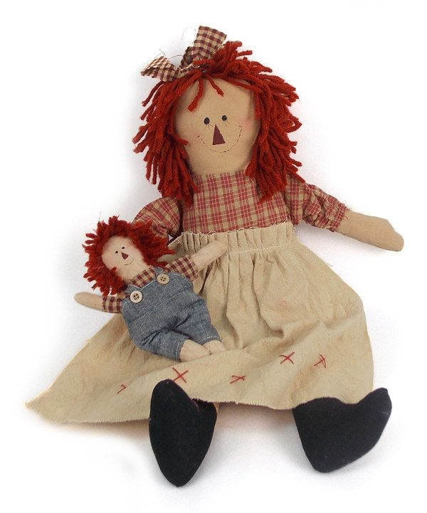 Look at this #zulilyfind! Ragged Ann 18'' Plush Figurine by Craft Outlet #zulilyfinds: