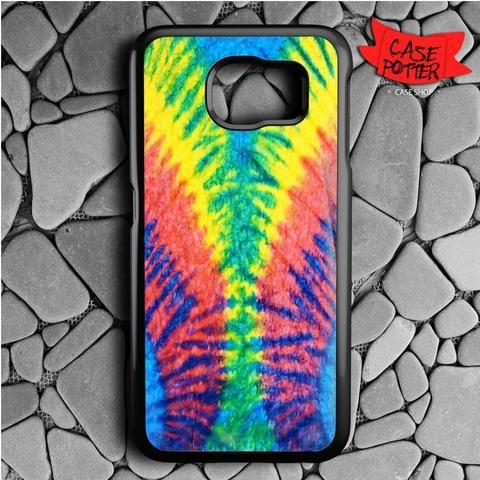 Tie Dye Multi Color Cut Spiral Samsung Galaxy S6 Black Case