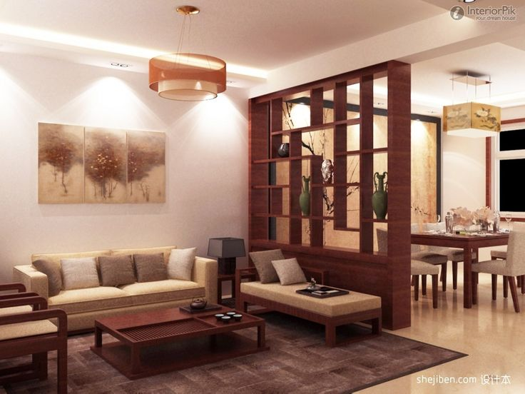 livingroom-the-latest-living-room-with-antique-effect-and-dining-room-which-is-bounded-by-a-large-wooden-shelf-also-covering-beige-sofa-and-wooden-coffee-table-and-brown-carpet-plus-white-wall-with-pa.jpg (1200×900)
