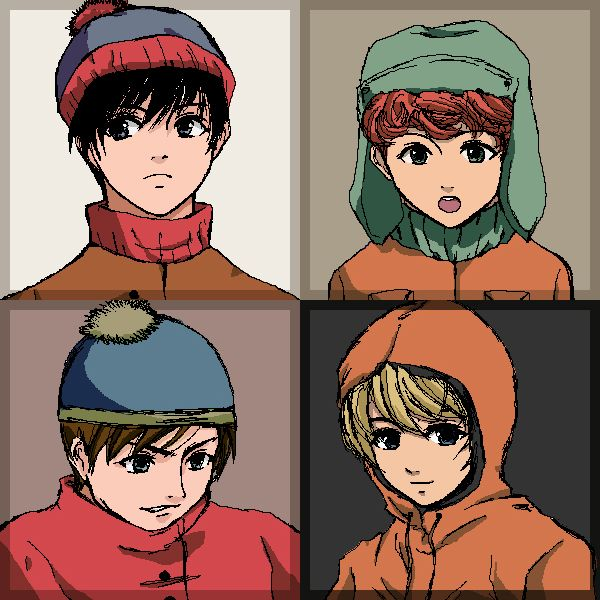South Park Anime Kenny X Kyle South park art  southpark