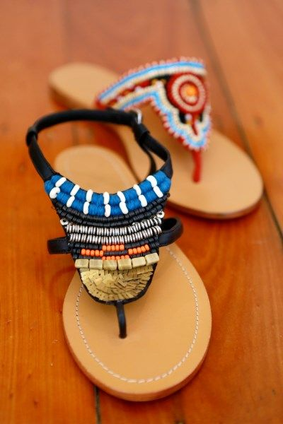 Loving our new beaded sandals - Congo and Zambezi www.jamjam.com.au