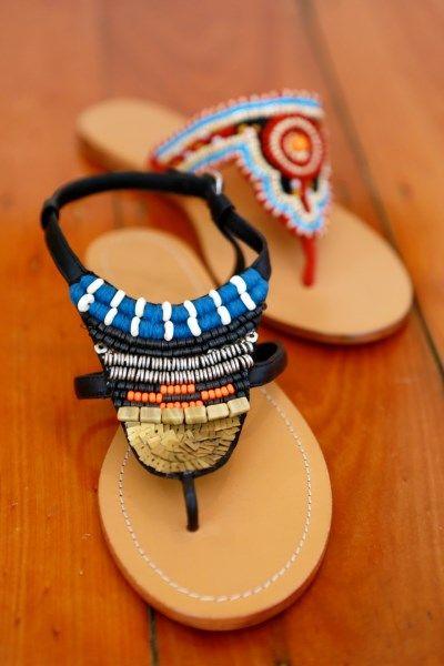 Loving our new beaded sandals - Congo and Zambezi www.jamjam.com.au