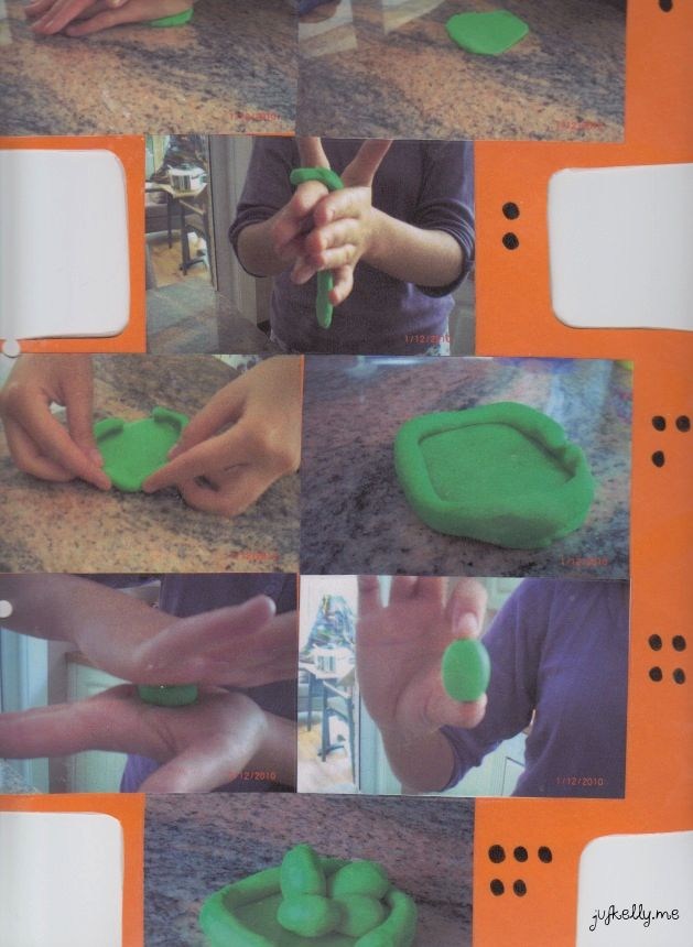 Stappenplan: nest maken met plasticine
