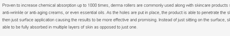 Derma Roller — The Dermatology Review