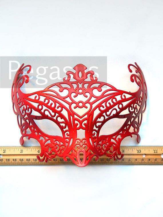 Masquerade Mask base 1 Mask Gold and RED Dragon DIY by pegasus22