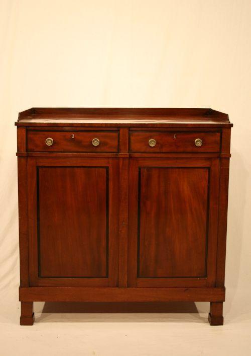Victorian mahogany linen cupboard