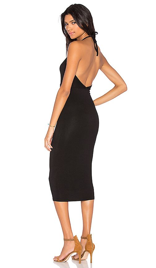 $49.00 $81.00 SIZE   Shop for BLQ BASIQ Halter Midi Dress in Black at REVOLVE. Free 2-3 day shipping and returns, 30 day price match guarantee.