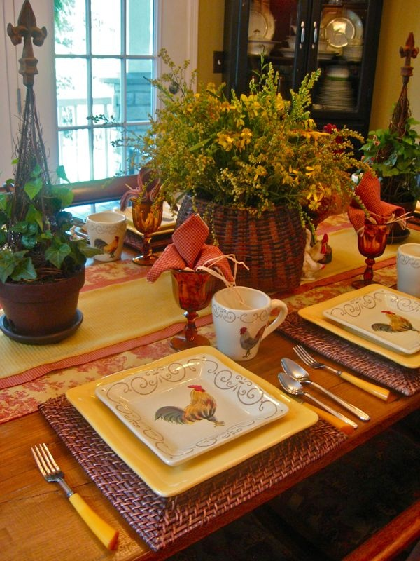 Far Above Rubies: Autumn Table Settings.