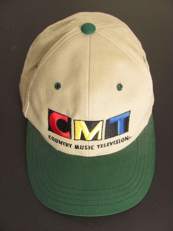 CMT Logo Hat Country Music Television Baseball Cap Beige Green Snapback New #Inko #BaseballCap