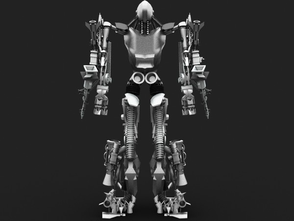 3ds max robot machine - Transformer Robot by Chrisli17