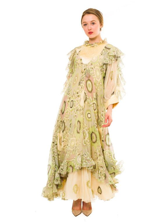 1970s Vintage Gina Fratini silk boho dress from by MORPHEWCONCEPT, $488.00