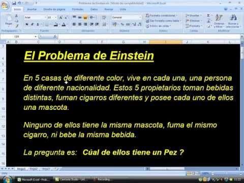 Problema de Lógica de Albert Einstein ¿Quien es el dueño del PEZ?!?!?! - YouTube