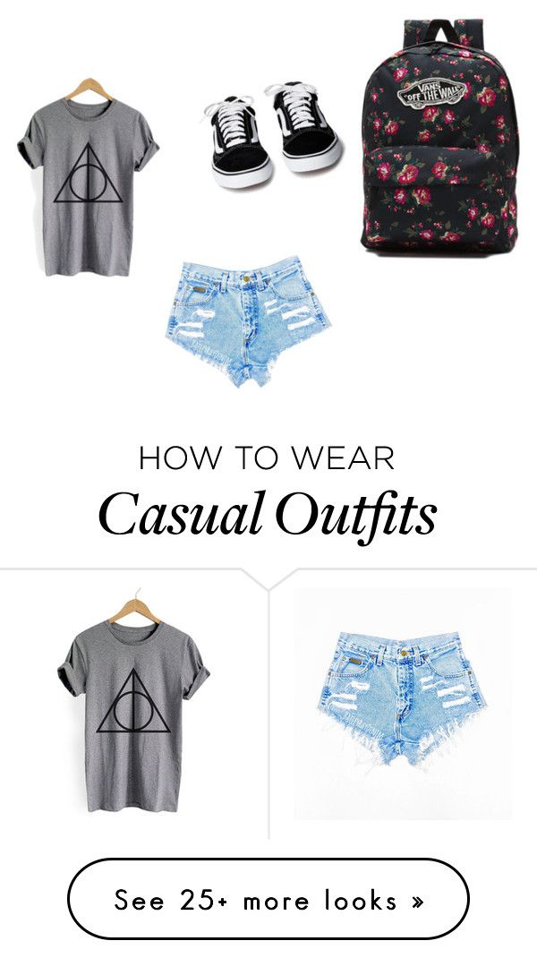 """casual summer"" by mjbol on Polyvore featuring Vans"