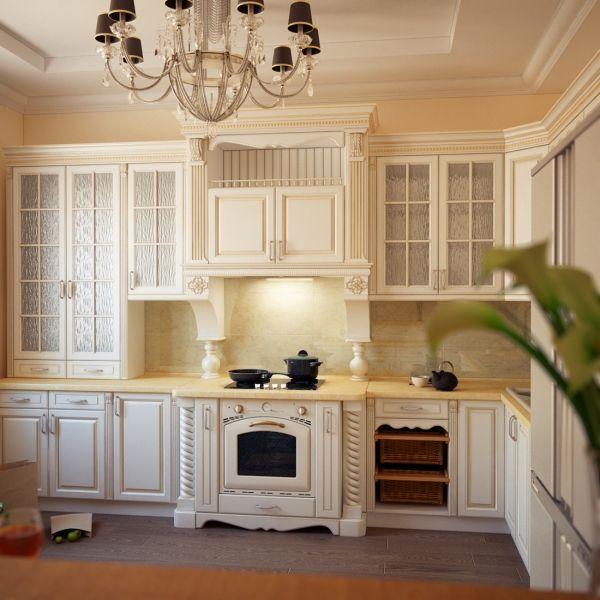 Белая кухня с патиной: как создать светлую классику с золотым, серебряным налетом в кухонном помещении своими руками, инструкция, фото и видео-уроки