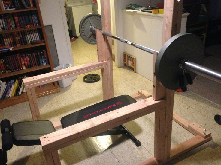 Diy squat rack google search body pinterest search for How to make a homemade squat rack