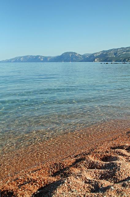 Beach, Cala Gonone Sardinia, by Tracy Sparkes