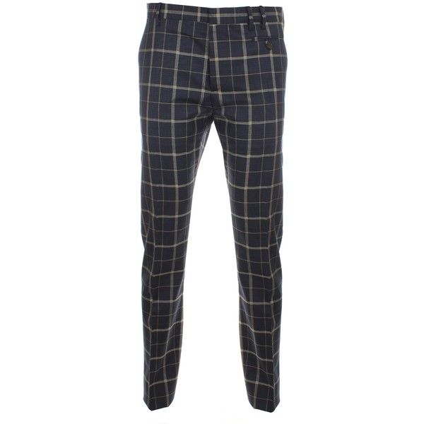 Vivienne Westwood Man Classic Tea Wool Tartan Trousers ($200) ❤ liked on Polyvore featuring men's fashion, men's clothing, men's pants, men's dress pants, men, pantalones hombre, mens lightweight pants, mens navy blue dress pants, mens wool pants and mens plaid pants