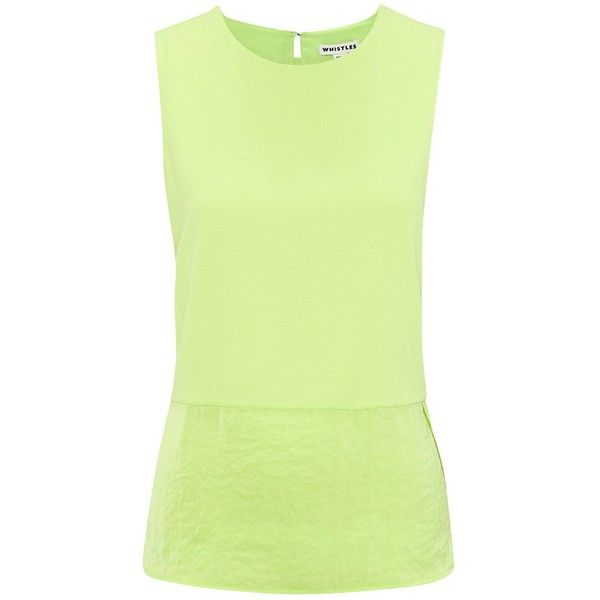 See this and similar Whistles tops - Add a pop of colour to your basic wardrobe with this Laney Mix And Match Top from Whistles. This easy-to-wear top is crafte...