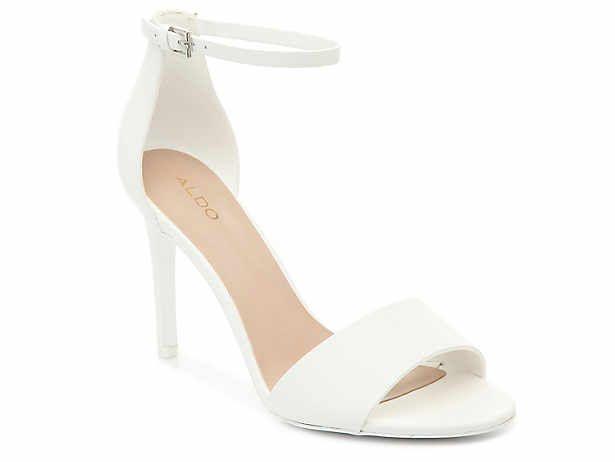 dsw white dress sandals
