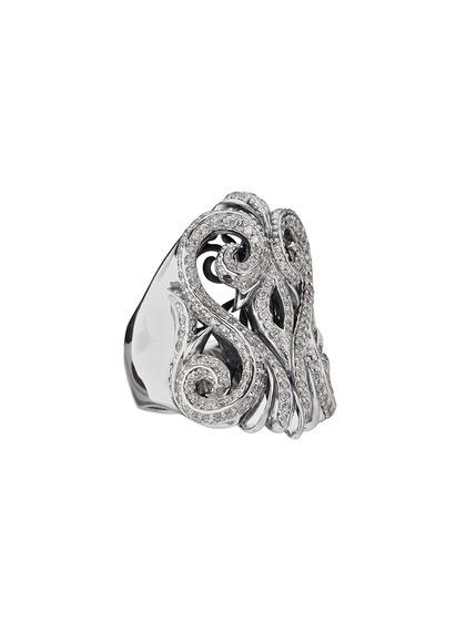 White Sapphire Cutout Swirl Ring by Scott Kay on Gilt.com