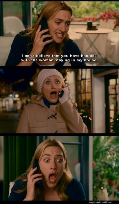 "3/11/14 8:08a ""The Holiday"" You shagged my brother? Kate Winslet and Cameron Diaz 2006 weheartit.com"