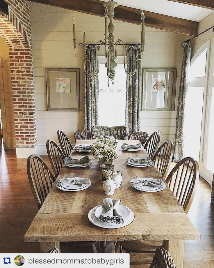 "Ballard Designs on Instagram: ""Is it wrong to want to literally marry a dining room? ( and design by @blessedmommatobabygirls)"""