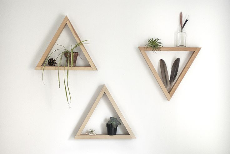 We had a few requests for the diy for these wooden triangle shelves back when we posted the Tripod Lamp - so this post is for you if you were wondering how to make your own triangle shelf!Mike actually made me a couple of these shelves a year or two ago to hang in our bedroom. Our bedroom is still…
