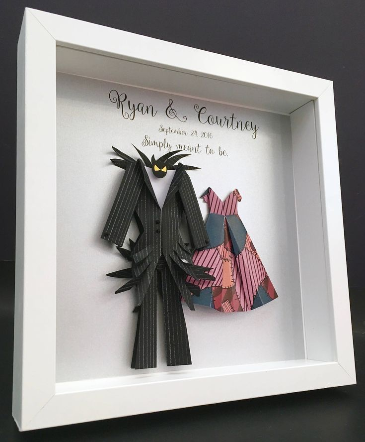 Personalized Wedding Anniversary Gift, Nightmare Before Christmas, Jack and Sall