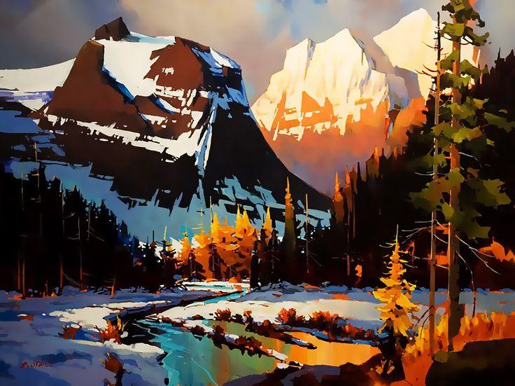 Майкл О'Тул родом из Ванкувера, западное побережье Канады. Рос в атмосфере творчества, ведь его мать Нэнси О'Тул была довольно известным художником. Яркие краски, контраст и чистые тона в пейзажах Майкла О'Тула мало кого оставляют равнодушным. Майкл работает в основном акрилом, он мощно, уверенно и сочно использует цвет, играет контрастами.