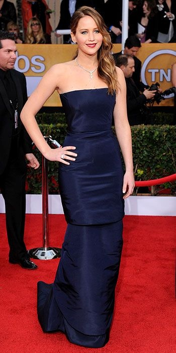 Jennifer Lawrence in Christian Dior Spring 2013 Couture at the 2013 SAG Awards