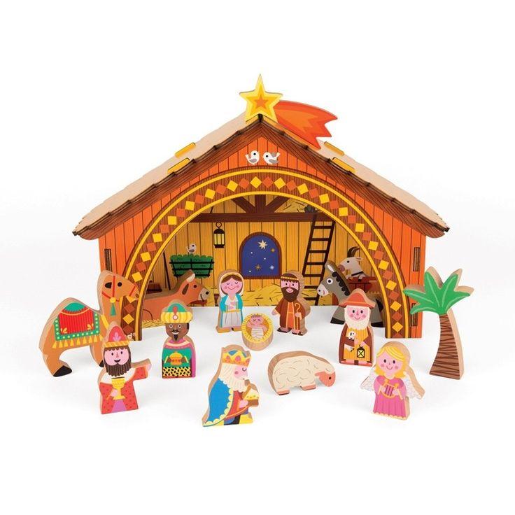 Janod - Wooden Christmas Nativity Scene  #EntropyWishList #PinToWin
