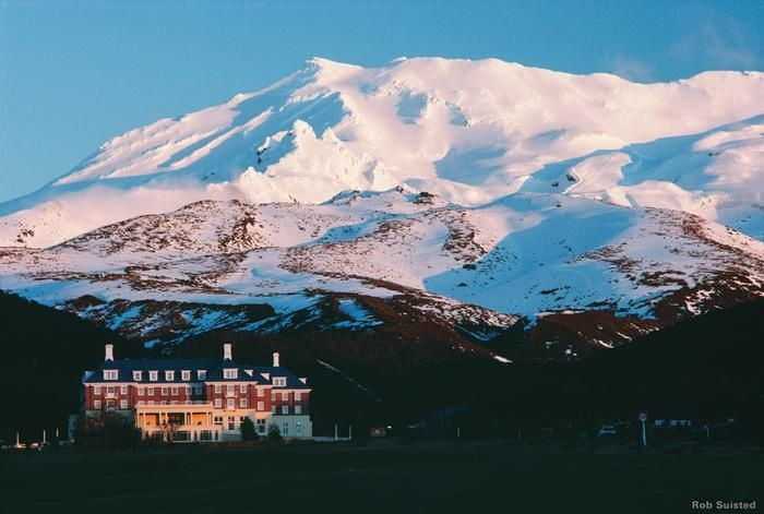 Bayview Chateau Tongariro, Mount Ruapehu located on #NewZealand's North Island. #travel #NewZealand