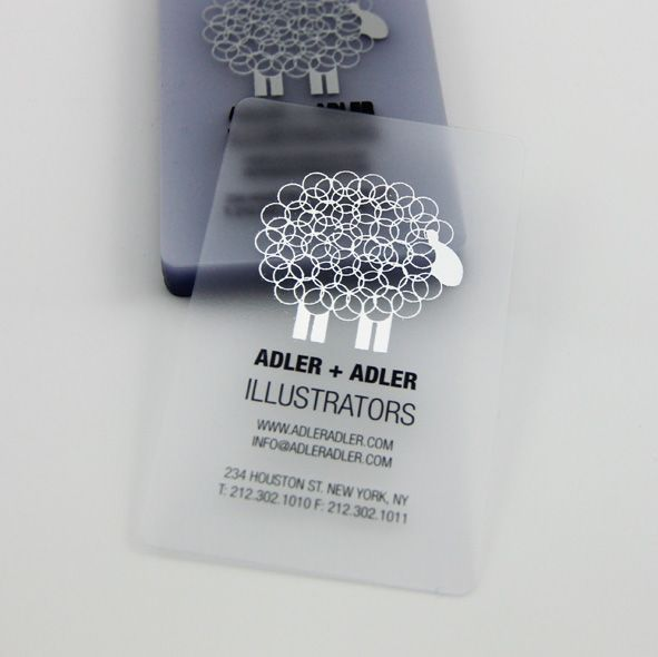 Carte plastique frottée / Clear Frosted Plastic Cards - Creative Business Cards