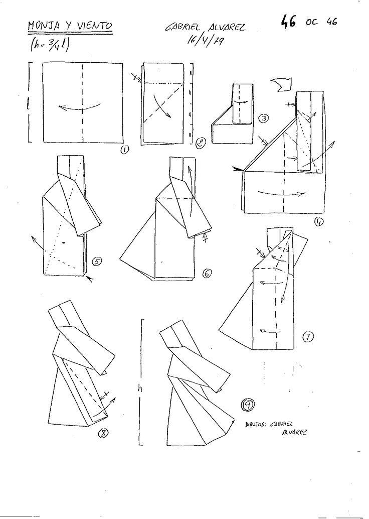 origami angel diagrams