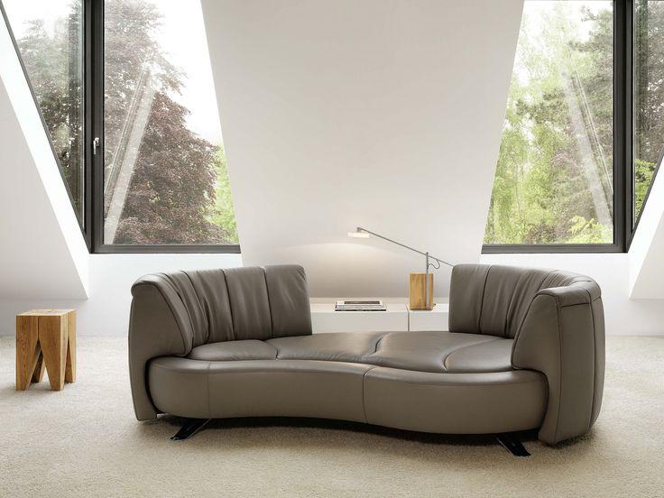 DS-164 moderní sedačka v šedé kůži, modulární / living room sofa