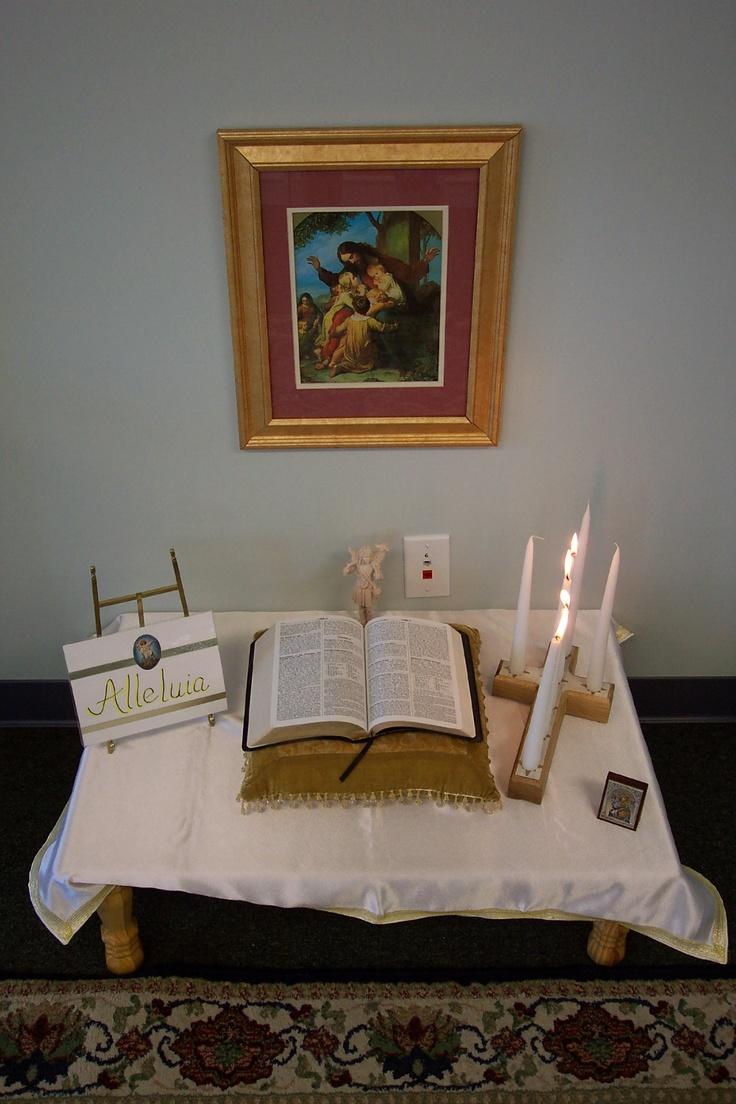 Classroom Worship Ideas ~ Best catholic home altars images on pinterest