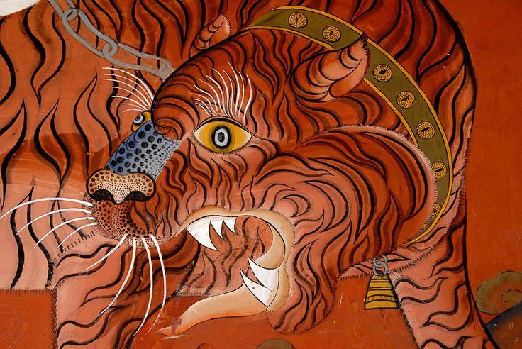 Tiger mural, Bhutan