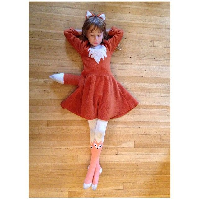 This little fox wore her costume all day today too. Do you guys put your…
