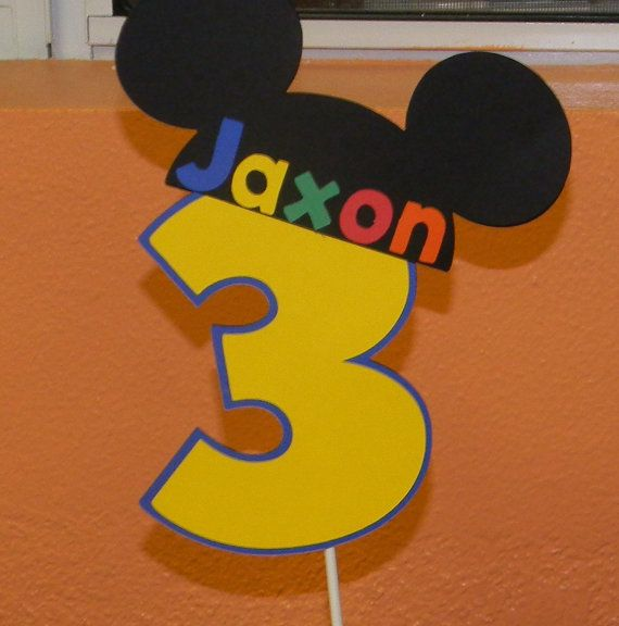 Mickey Mouse Cake Topper by YourPartyShoppe on Etsy