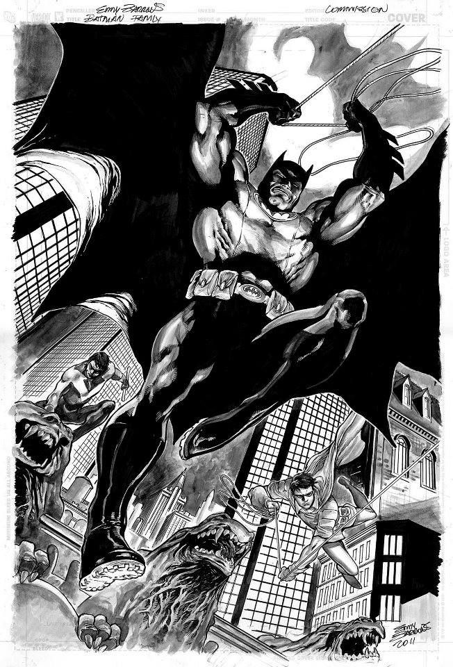 Batman, Robin, and Nightwing by Eddy Barrows